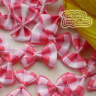 HotRed Grosgrain Bows Scotish 30mm Appliques Scrapbooking Cardmaking Trimming BK