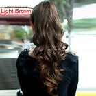 Clip in Ponytail Hair Piece Pony Wavy half-head Hair Extension + Free gift