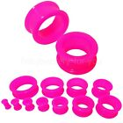 Flexible Flesh Tunnel Ear Plug Stretcher Silicone Soft 10 Colours 4mm to 30mm Body Piercing Jewellery - 32050
