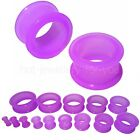 Flexible Flesh Tunnel Ear Plug Stretcher Silicone Soft 10 Colours 4mm to 30mm  <br/> Price from &pound;0.99 - 15 sizes , 10 colours - Free UK post