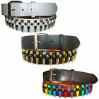 MENS WOMENS IMITATION BULLET DECORATED SNAP ON BELT WITH REMOVABLE BUCKLE BELTS