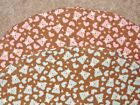 BASSINET SHEET/FLANNEL-TEDDY BEARS AND HEARTS IN TWO COLORS