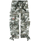 "AIRBORNE MENS COMBATS TROUSERS ARMY VINTAGE MOTORCYCLE CARGO URBAN CAMO 30""-40"""