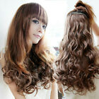"18"" New Fashion Stylish Women's Curl Wave Hair Extension Clip-On Nice Beautiful"