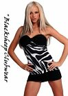6300 SEXY NEW CLUBWEAR WOMENS BLACK 'n WHITE ZEBRA MINI DRESS UK SIZES 10 & 12