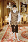 Renaissance Style Vest Handmade from Brocade with Button Closure