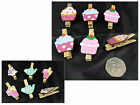 Small CRAFT PEGS Fairy Cupcake Tea Party Assorted Designs Card Scrapbook making
