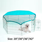 Pet Metal Playpen Dog Puppy Rabbit Guinea Run Cage Enclosure Safety Net 4 Size