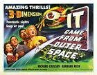 IT CAME FROM OUTER SPACE 07 B-MOVIE REPRODUCTION ART PRINT CANVAS A4 A3 A2 A1