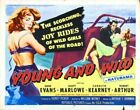 YOUNG AND WILD 02 VINTAGE CLASSIC B-MOVIE REPRO ART PRINT A4 A3 A2 A1