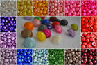 SET OF 10 SELECTION OF COLOUR BIG PEARLED HALF BALL SHAPED BUTTON 20mm-B226