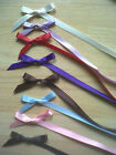 7mm Double sided Satin Ribbon Bows packs of  10 - 25 - 50 plus 3,4,5 mtrs ribbon