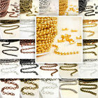 Wholesale Unfinished DIY Ball Curb Cable Rollo link Chain fit necklace FREE SHIP