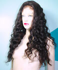Indian Human Hair Remi Remy Full Lace Wig Wigs 1B Custom Made High Quality