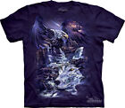 UNITY - Eagle & Wolf T-Shirt - The Mountain Classic Purple Tie-Dyed Tee-10-2290