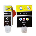 Kodak 30 XL BLACK & 30CL COLOR INK CARTRIDGES RAEPLACE FOR ALL-IN-ONE PRINTER