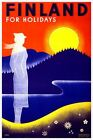 Finland For Holidays Vintage Poster VEP012 Art Print Canvas A4 A3 A2 A1
