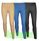 New Womens Denim Look Skinny Plain Stretch Jeggings Leggings Jeans 8-14