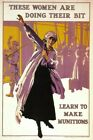 Vintage Poster Women Munition Workers WIWP020 Art Print A4 A3 A2 A1