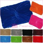 NEW SUEDE PLEATED WEDDING LADIES PARTY PROM EVENING CLUTCH HAND BAG PURSE