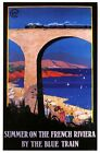 1920's French Rivierra By Blue Train Tourism Poster  A3 Print