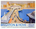 Vintage Brighton & Hove Railway Poster A3 / A2 Print
