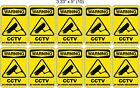 SECURITY NOTICE STICKERS for BUSINESS or HOME - Choose your Size Set