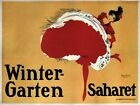 Vintage Advertisment Poster Winter Garten Saharet WIA103 Art A4 A3 A2 A1