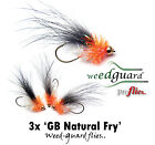 NEW!! Fly Fishing  *WeedGuard* GOLDHEAD NATURAL FRY : Weed Resistant Trout Flies