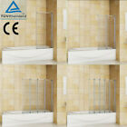 1/2/3/4/5 Fold Pivot Folding Bath Shower Screen 1400 Glass Over Door Panel&Seal
