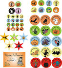 Halloween stickers - circular, star shaped, rectangular - personalised/ assorted