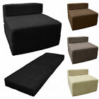 Jumbo Cord Fold out Chair Sofa Bed Z Guest Folding Futon Single Chairbed Gilda