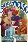 Beers Of The Meuse By Alphonse Mucha AAM067 Art Print A4 A3 A2 A1