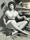 Vintage Pin-Up Victor Gaskets Medcalf PINUP593 Art Print A4 A3 A2 A1