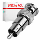 BNC MALE TO RCA PHONO MALE ADAPTOR CONNECTOR CCTV 4 PACK
