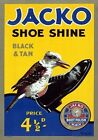 Jacko Shoe Shine. Australia. Vintage Advertisement poster by James Northfield