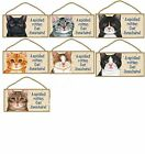 Decorative Wood Plaque-Sign-A Spoiled Rotten Cat Lives Here-your choice of Color