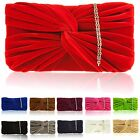 Womens Designer Faux Suede Clutch Ladies Evening Bag Prom Party Bridal Girl NEW