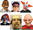 Mens Adult Halloween Masks Obama Gadaffi Clown Zombie Psycho Mask NEW
