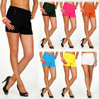 New Womens Elegant Stretchy High Waist Shorts Girls Sexy Leggings UK Size 6-16