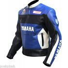 Doctor Valentino Rossi Yamaha GO 46 Blue Motorcycle Biker Genuine Leather Jacket