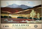 Galloway, The Southern Highlands. LMS Vintage Travel Poster by Norman Wilkinson