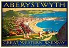 Aberystwyth, Ceredigion, Wales. GWR Vintage Travel Poster print by A E Martin
