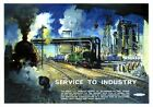 Service to Industry, Billingham. BR Vintage Travel Poster print by Terence Cuneo