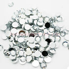 ACRYLIC RHINESTONES ROUND FLAT BACK GEMS 1mm, 2mm, 3mm, 4mm, 5mm, 6mm, 8mm, 10mm <br/> many sizes and colours - Great for Crafts and Nail art