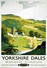 Yorkshire Dales. British Railways (NER) Vintage Travel Poster by Frank Sherwin.
