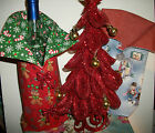 NEW FABRICS Handmade Christmas Wine Bottle Bags Children Gingerbread Carolers