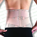 Breathable Lower Back Support Double Pull Strap Lumbar Brace Posture Belt Pain