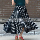 NEW Full Circle Skirts Polka Dots Long Skirts 95cm Length S~3XL