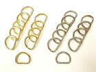 Metal D rings unwelded split curtain tieback dee loop buckle tie back hook ring